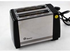 Тостер на 2 отделения с поддоном для крошек Domotec MS-3231 650W Black/Steel