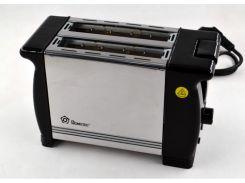 Тостер на 2 отделения Domotec MS-3232 650W Black/Steel (112763)