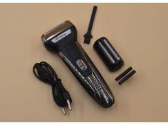 Электробритва беспроводная аккумуляторная Gemei GM-7723 Black/Silver