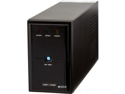 ИБП LogicPower LPM-U825VA,Lin.int.,AVR, 2 x евро, USB, металл