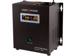 ИБП LogicPower LPY-W-PSW-500VA+ (350Вт)5A/10A, Lin.int., AVR, 1 x евро, LCD, металл, с правильной синусоидой 12V, настенный