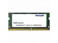 Оперативная память SO-DIMM 4GB/2400 DDR4 Patriot Signature Line (PSD44G240081S)