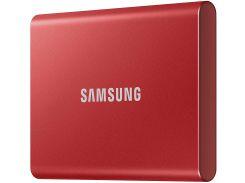 SSD накопитель Samsung T7 500GB USB 3.2 GEN.2 Red (MU-PC500R/WW) (6579575)