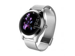 Умные смарт часы King Wear KW10 Metal с защитой от воды Серебристый