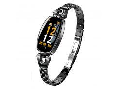Умные часы фитнес браслет Finow H8 с тонометром Черный