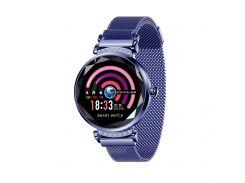 Умные часы фитнес браслет Lemfo H2 с измерением давления Синий