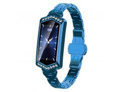Умные часы фитнес браслет Finow B78 с цветным дисплеем и тонометром Синий