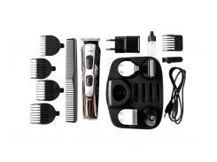 Аккумуляторный Триммер 10в1 Geemy 592  для Стрижки Бороды, Щетины, Волос на Голове, Интимных Зон (10526)