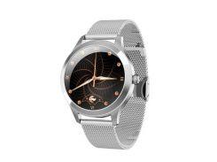 Смарт- часы Kingwear KW10 PRO для женщин версия 2020 Серебряные (37-2)