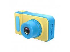 Детский цифровой фотоаппарат Summer Vacation Cam 3 mp фотоаппарат для ребенка, Жёлто-голубой
