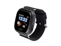 Умные смарт-часы Smart Baby Watch Q90 для детей Черный
