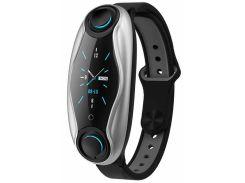 Фитнес-браслет с беспроводными наушниками Smart TWS T90 6940 Черный (gr_011574)
