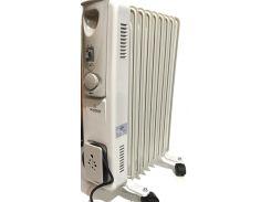 Масляный обогреватель Crownberg CB 9 радиатор на 9 секций 2000Вт с терморегулятором Белый (par_9)