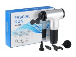Массажёр Fascial Gun HG320 Серебристый