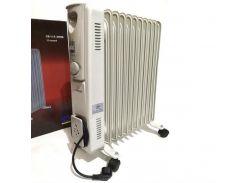 Обогреватель масляный радиатор на 11 секций с терморегулятором Crownberg CB-11 2500W White (112157)