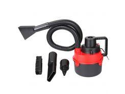 Автомобильный пылесос Turbo Vacuum Cleaner Wet Dry canister 12V с насадками Красный