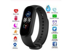 Многофункциональный Фитнес-браслет часы Fit Smart Band M5 с измерением пульса и шагомер черный