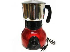 Электрическая кофемолка измельчитель Domotec MS-1108 150W Red