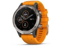 Смарт-часы Garmin Fenix 5 Plus Sapphire Orange (010-01988-05)