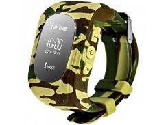 Детские часы с GPS Smart Baby Watch Q50-PLUS Камуфляж