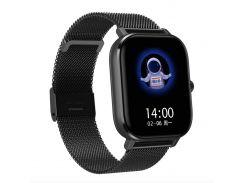 Смарт-часы MobiBron DT35 Black - Железный ремешок (Bluetooth 4.0, ЭКГ, IP67, Вызовы)