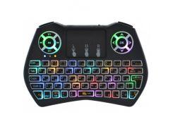 Беспроводная аккумуляторная мини клавиатура Rii i9 2.4G с RGB подсветкой (48050R)