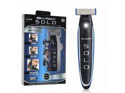 Триммер для бороды Micro Touch SOLO машинка для стрижки Black-Blue (kz004-hbr)