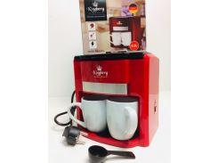 Кофеварка с двумя чашками электрическая Kingbeg KB 1991 Красная