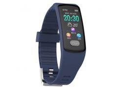 Фитнес браслет Smart Band UMax ET08 Тонометр + ЭКГ + PPG Синий (hub_wgDH32190)