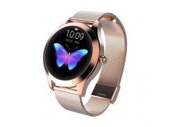 Смарт-часы King Wear KW10 Metal с защитой от воды Розово-золотой (ftkingwkw10rosg)
