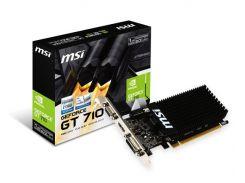 Видеокарта GF GT 710 1GB GDDR3 MSI (GT 710 1GD3H LP)