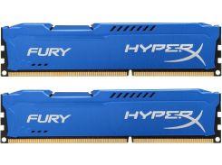 Оперативная память DDR3 2x4GB/1600 Kingston HyperX Fury Blue (HX316C10FK2/8)