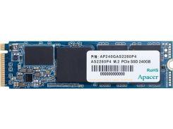 SSD накопитель Apacer AS2280P4 240GB PCIe 3.0x4 M.2 (AP240GAS2280P4-1) (6491152)