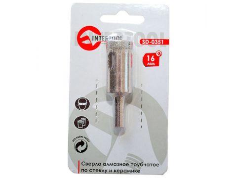 Коронка трубчатая по стеклу и керамике  INTERTOOL SD-0351