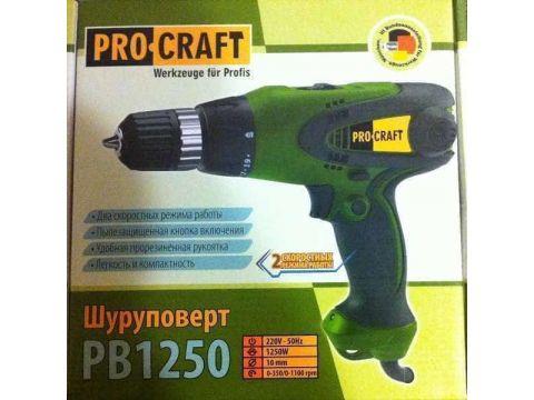 Шуруповерт сетевой ProCraft PB-1250/2 (001250)