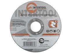 Диск отрезной по металлу 115x1,6x22,2 мм INTERTOOL CT-4003