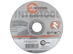 Диск отрезной по металлу 125x1,6x22,2 мм INTERTOOL CT-4008