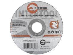 Диск отрезной по металлу 115x1,2x22,2 мм INTERTOOL CT-4002