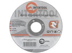 Диск отрезной по металлу 115x2,5x22,2 мм INTERTOOL CT-4005