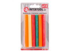 Комплект цветных клеевых стержней 11.2мм 100мм INTERTOOL RT-1027