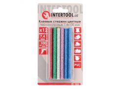 Комплект цветных перламутровых клеевых стержней 7.4 мм 100 мм INTERTOOL RT-1033