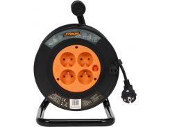 Удлинитель электросетевой на катушке STHOR 82692