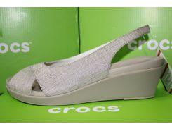 Женские босоножки Crocs Slingback Wedge оригинальные крокс