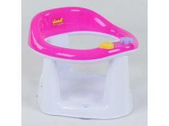 """гр Детское сиденье для купания на присосках BM-10600 PINK-WITE (1) """"BIMBO"""" цвет БЕЛО-РОЗОВЫЙ, в коробке"""