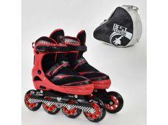 "Ролики 6014 ""M"" Red - Best Roller /размер 35-38/ (6) колёса PU, без света, d=8.4см"
