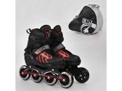 "Ролики 9015 ""L"" Red - Best Roller /размер 39-42/ (6) колёса PU, без света, d=9см"