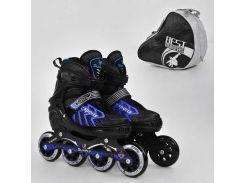 """Ролики 9015 """"M"""" Blue - Best Roller /размер 35-38/ (6) колёса PU, без света, d=8.4см"""