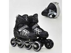 """Ролики 9015 """"M"""" Gray - Best Roller /размер 35-38/ (6) колёса PU, без света, d=8.4см"""