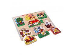 Рамка-вкладыши Большая ферма Lam Toys 8 деталей