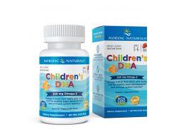 Рыбий жир для детей (Children's DHA) со вкусом клубники, 90 капсул